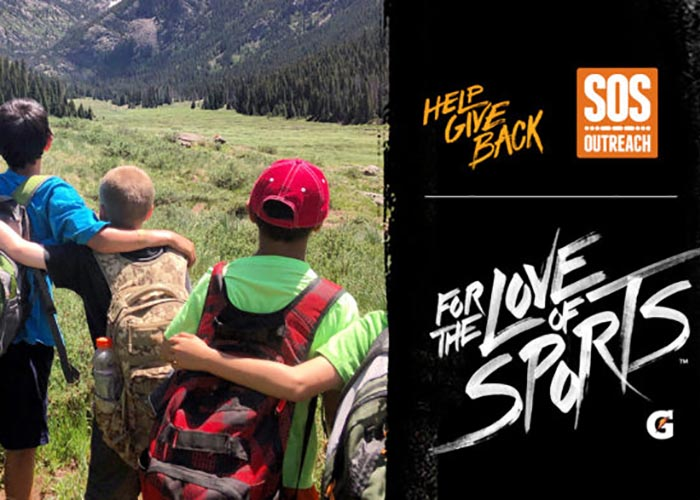 SOS Outreach youth enters the Gatorade for the Love of Sports challenge
