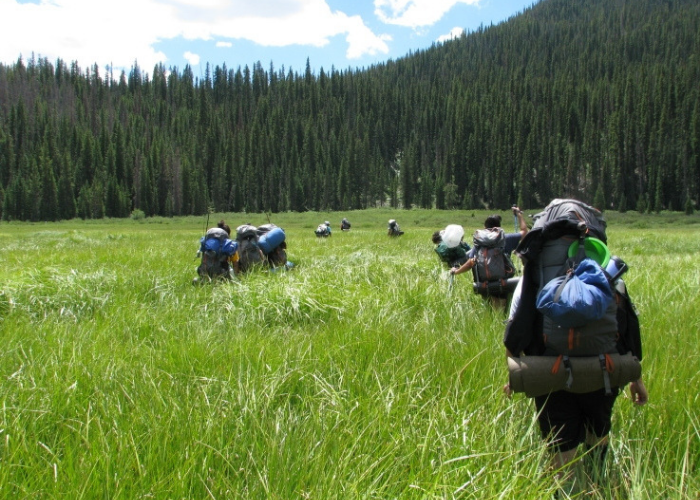Backpacking with SOS Outreach