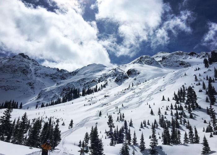 Silverton ski Mountain on an SOS Outreach trip