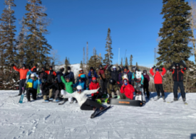 Group of SOS Outreach participants on Park City