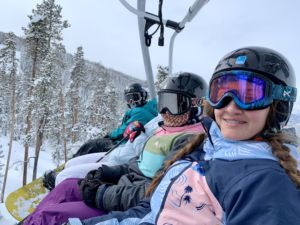 Mentor group on chairlift